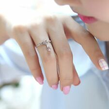 Hollow Heart Ring Chain Finger Fashion Adjustable Rings Jewelry Waterdrop