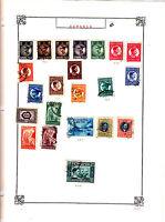 ROMANIA Old Stamps Roumanie vieux timbres sur feuiles d'albums lot 423
