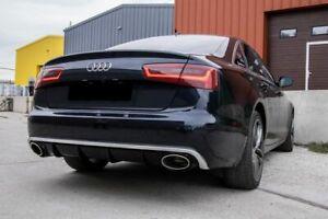 RS6 look Rear bumper diffuser for stock bumper For Audi A6 C7 4G 2011 - 2014