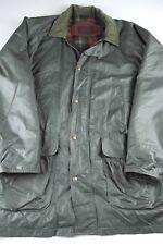 Vintage Woolrich Raincoat Parka Wool Lined Jacket Mens Size XL green 17122 vtg