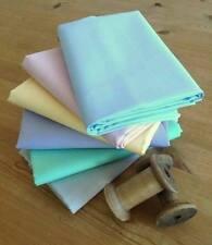PASTEL SOLID COLOURS Fat Quarter Bundle 100% cotton Fabrics