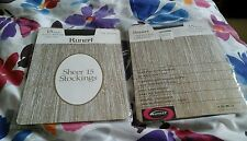 VINTAGE KUNERT VISION HEEL SEAMLESS STOCKINGS 80s SIZE MED SHADOW NEW IN PACKET