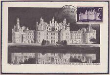 FRANCE N°924 CARTE MAXIMUM 1952 Château de Chambord Gandon Obl 30/05 Maxi Card