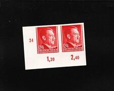 Nazi Germany General Government Poland Hitler Imperforate Pair # Selvage 24g A