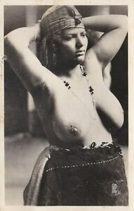 North Africa arab nude woman from Egypt original old 1910s Real Photo