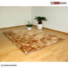 Hochflor Teppich Shaggy 160 x 230 cm beige Neu Moderner Langflor Läufer