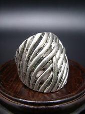 ANCIENNE BAGUE ARGENT TIBETAIN ART DECO taille 56