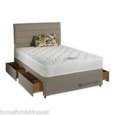 Rapyal Sleep Palm Micro Quilted Sprung Dual Sided Divan Bed -All Sizes Available