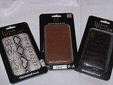 Uunique Leather Pouch iPhone 3G 3GS 4 4S Universal Tan Black Snake 3 Colours