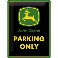 John Deere Logo Traktor Trecker Emblem Blechschild 30x40cm Werbung *neu