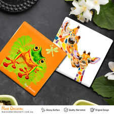 Maree Davidson Art Original Ceramic Glossy Coasters 11cm Anti-fading Drink Mat