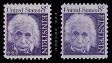 1285 1285a Albert Einstein 8c Prominent Americans Variety Set of 2 MNH -Buy Now