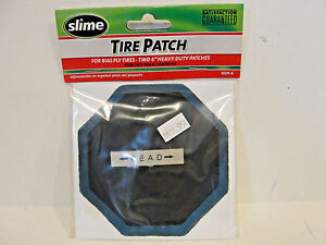 """Slime Tire Patch For Bias Ply Tires, Two 4"""" Heavy Duty Patches, # 1029-A"""