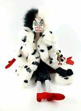 "Walt Disney World 101 Dalmatians Cruella DeVille Plush Doll Villain LARGE 18"""