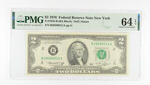 PMG Grade 64 EPQ $2 1976 FR1935-B Bicentennial Note Consec Run (see lots) *232