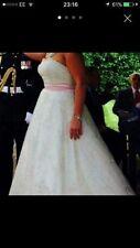 Ronald Joyce Lace A-line Strapless Wedding Dresses