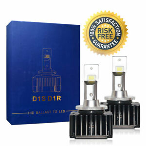 Bright LED Headlight Bulbs Conversion Kit D1S D1R Low Beam For Audi TT 2011
