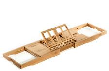 Prosumer's Choice Natural Bamboo Bathtub Caddy Tray Organizer