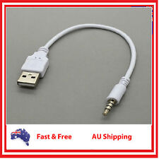 3.5mm Male Audio AUX to USB 2.0 A Male Cable Data Charger For MP3 MP4