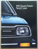 1981 Honda Prelude Sports Coupe original American sales brochure