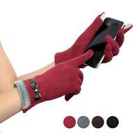 Womens Gloves Formal Mittens Winter Wrist Gloves Warm Mittens Touch Screen New
