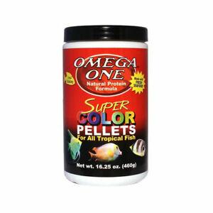 16.25oz OMEGA ONE SM SINKING SUPER COLOR PELLET, FREE 12-Type Ultra Pellet Blend