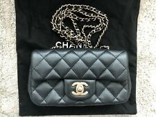 Chanel Black Extra Mini Classic Flap Bag With Gold Hardware MINT!