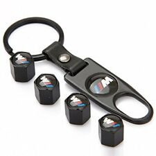4X Universal Wheel Tire Valve Stem Air Caps Covers with Keychain for BMW ///M
