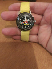 Vintage Swiss Bradley Mickey Mouse Diver Style Watch Nice!!