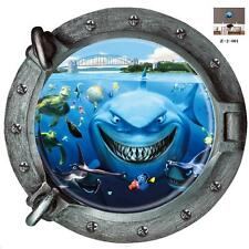 Finding Nemo Shark Fish submarine portholes Decal Kids Wall wall stickers mural