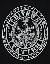 T-SHIRT S SMALL CHITOWN TATTOO BODY PIERCING CHICAGO ILLINOIS SHIRT