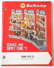 1971 NAPA AUTO PARTS SERVICE AND SUPPLY ITEMS  CATALOG ORIGINAL