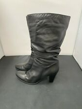 Ladies , NEXT, Mid calf high heeled boots ,Leather Size-UK 6 1/2