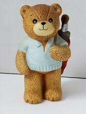 "Enesco Lucy & Me Boy Golf Bear With Golf Clubs Figurine Lucy Rigg 1982 3.5"""