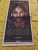 Kobe Bryant Tribute LA Times Los Angeles Times Newspaper January 28th 2020 NEW