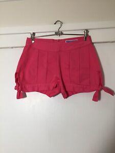 Eley Kishimoto Ladies Designer Label Pink Shorts Size 8 Cotton In Exc Condition