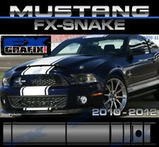 "2010 - 2012 Ford Mustang Snake Style Super Stripes 18"" with Pin Stripe Kit"