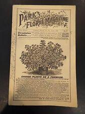 Park's Floral Magazine June 1889 Vol. XXXV No.6