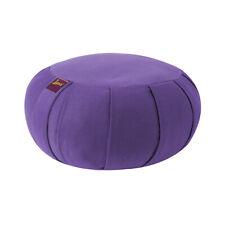 Yogavni Zafu - Cushion Filled with Buckwheat Hulls for Yoga & Meditation, Round,