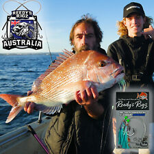 4x Snapper Rigs Reedy's 8/0 Circle Hook Tied Bait Fishing paternoster Perth Reds