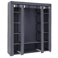 New Design Portable Closet Wardrobe Clothes Rack Storage Organizer Shelf Durable