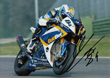 Michel Fabrizio Hand Signed 2012 BMW Racing 7x5 Photo WSBK.