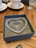 Lalique Crystal Love Heart Dish Bowl New In Box  #118470