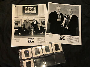 Super Bowl XXXI 31 - Slides Photos John Madden, Pat Summerall Green Bay Packers