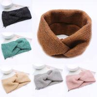 Elastic Weaving Woolen Cross Headband Turban Hair Band Twisted Warm Hairband New