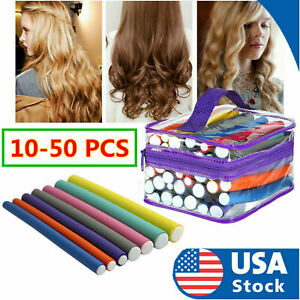 84P Foam Different Thicknesses No Heat Hair Curler Multi Colored FREE Travel Bag
