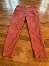 Brooks Brothers Mens 36 x 30 Red Fleece Chino Pants Light Red 100% Cotton Casual