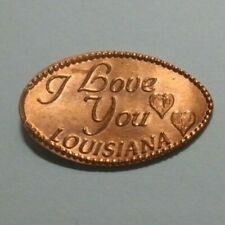 I Love You Louisiana Two Hearts Egan Elongated Copper Penny Retired