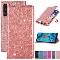 For Huawei P30 Pro P Smart Plus Bling Wallet Flip Leather Phone TPU Case Cover
