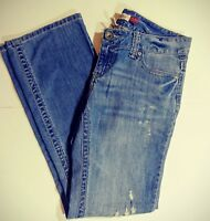 Aeropostale Chelsea Bootcut Womens Jeans Size 9/10 Distressed
